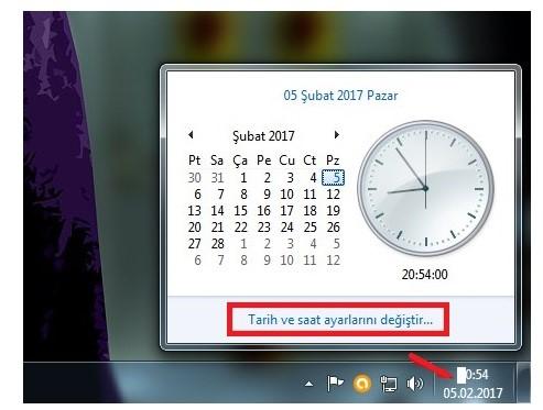 Bilgisayarın Saatini Ve Tarihini